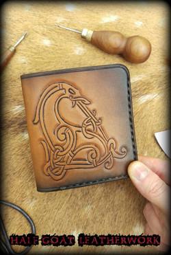 Viking Wallets Urnes Beast Tan