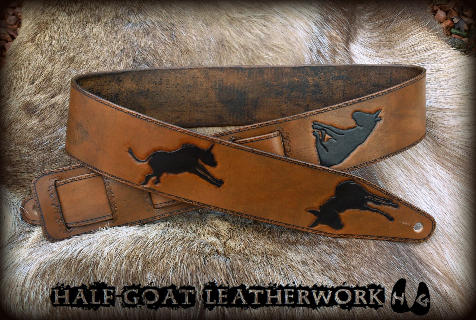 """Searching For Donkeys"" Guitar Strap"