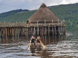 coracle paddling crannog