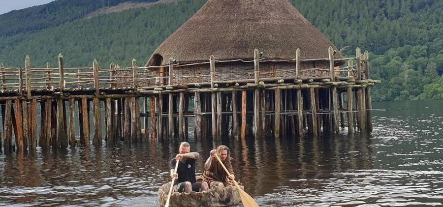 Hamish and Sean paddling