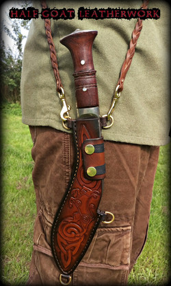Pictish Styled Kukri Sheath