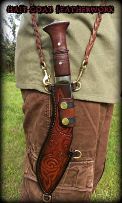 Pictish Styled Kukri Sheath