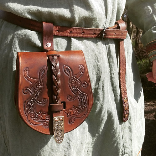 Viking wolves pouch