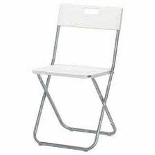 Chaise pliante, blanc