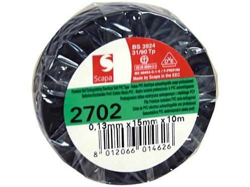 SCAPA • ADHÉSIF PVC NOIR 15MM X 10M