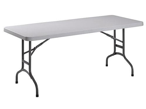 TABLE DE BANQUET 182X74X74CM, GRIS CLAIR