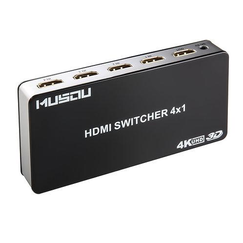 Musou 4 Ports 4Kx2K Commutateur HDMI Switch Box 4x1