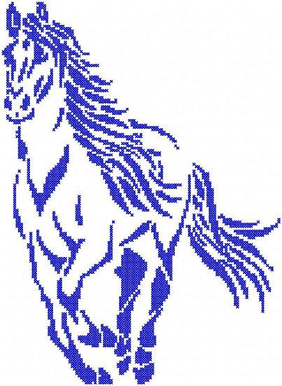 cheval point de croix