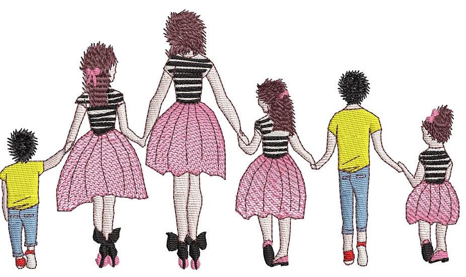 famille 3 filles 2 garçons