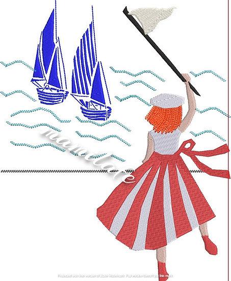 fille 2 bateaux