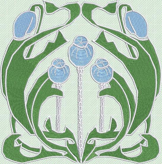 fleur art nouveau 5