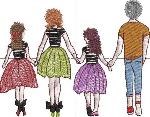 papa maman 2 filles