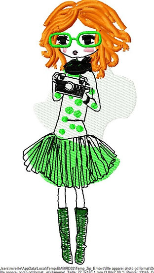 fille appareil photo