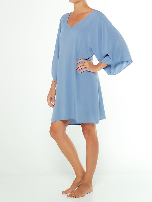 Dusty Blue Kaftan Dress