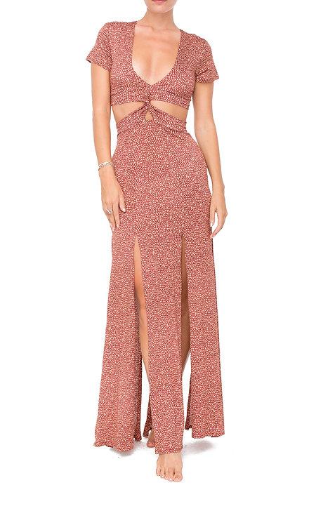 Maroon Twisted Dress