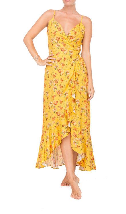 Hydrangea Wrap Maxi Dress