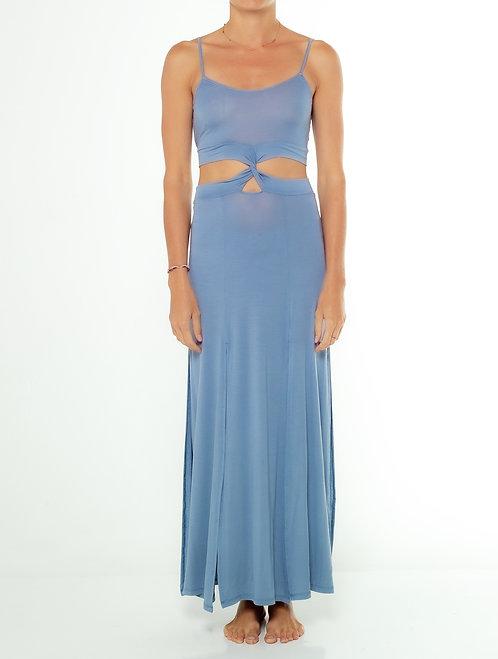 Dusty Blue Tank Twisted Dress