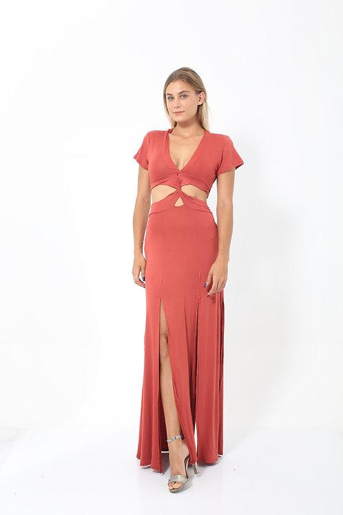 Crimson Twisted Dress