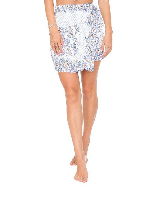 Wild Flower Mini Wrap Skirt