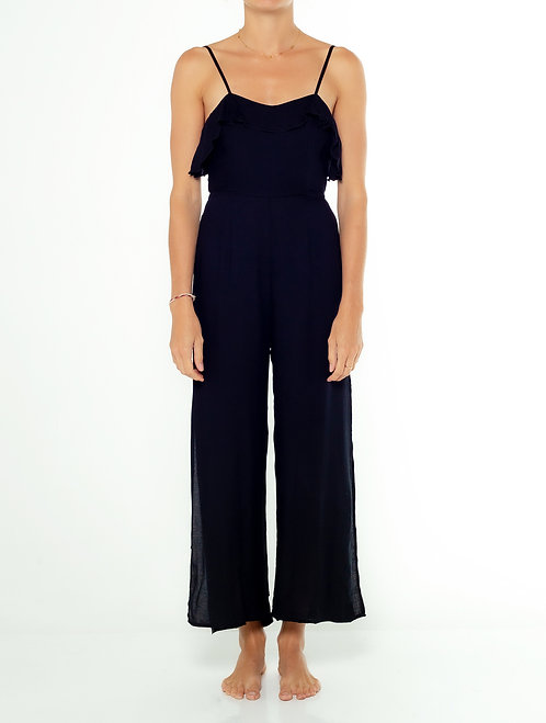 Black Side Split Jumpsuit