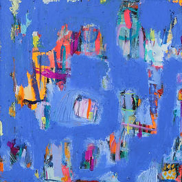 These paintings are an inquiry into the notion of disruption and containment. Initially, this emerged from my practice-based research into an autoethnographic experience of persistent pain and expanded to explore dramatic global changes with the emergence of the COVID-19 pandemic.  There was synergy with my processes and the new reality I was navigating. I applied Erving Goffman's dramaturgical theatrical 'front' or impression management. Lockdown encompassed a dualistic containment: managing constellatory persistent pain within another contained, safe stage (my home). For a time, I only saw the world through windows, and felt I was being moved like a character, in/ out of isolation, bubbles and social distancing.  My work questions what happens when we fail to contain the chaos, when we don't manage to keep up the impression management, both as an individual and as a society? Will the hidden always seep out? What happens if we drop the façade?