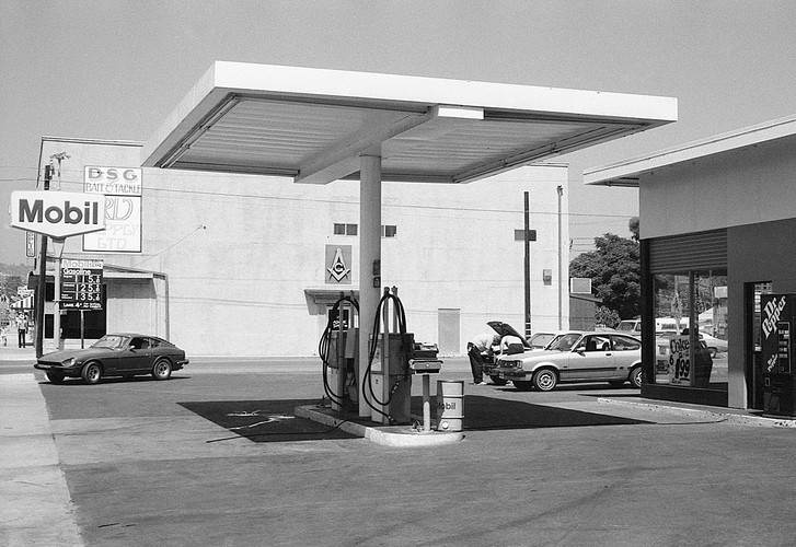 Mobil Gas Station Forecourt