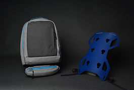 The post-Covid backpack; Mod-Pac is a bag that fits around your lifestyle and hobbies. With the core of the product being its back frame, all the user must do is easily attach on the mods they wish to use on the day. For example, say you are an avid photographer, the main bag you would use is the 'photography mod', built with three compartments, one for the camera itself and storage once the camera is in use, a 2nd compartment with room for extra lenses, and a 3rd for extra space and batteries.  A secondary bag you might use would be the 'gym mod', perfect for use in a gym environment, with two compartments consisting of a main bag for extra clothes, food and water, and a 2nd compartment for your used gym clothes once you have finished the work out. The modifications that can be made to the backpack are boundless.