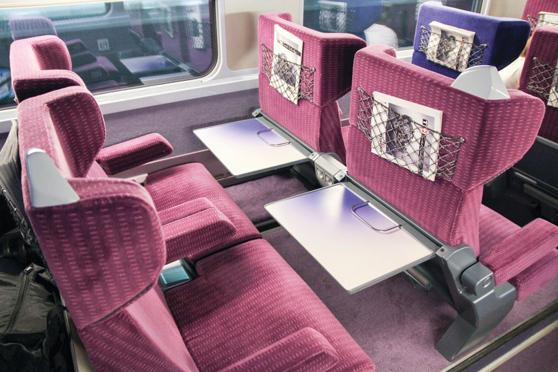 First class seating row – 2 + 1