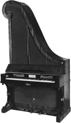 Unique upright piano