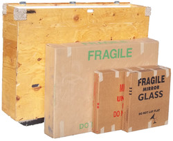 TV crate and mirror cartons