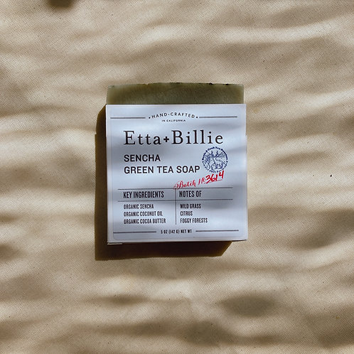 Etta + Billie Sencha Green tea Soap