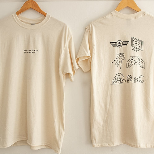 """Roots and Craft """"Virtual Collab"""" T-shirts"""