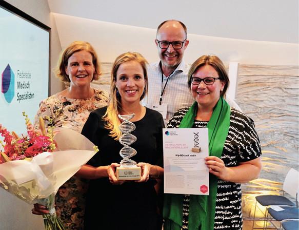 Vlnr: Marieke Pierik, Marin de Jong, Jan Ramaekers, Andrea van der Meulen-de Jong