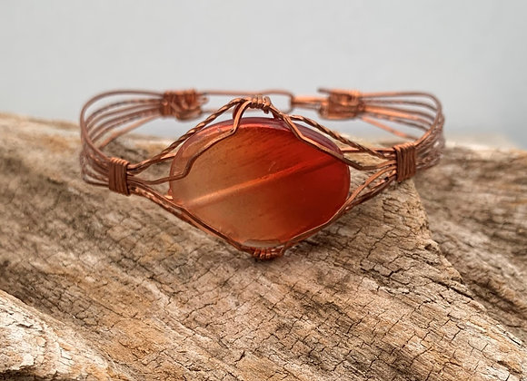 Copper color Bead Bracelet