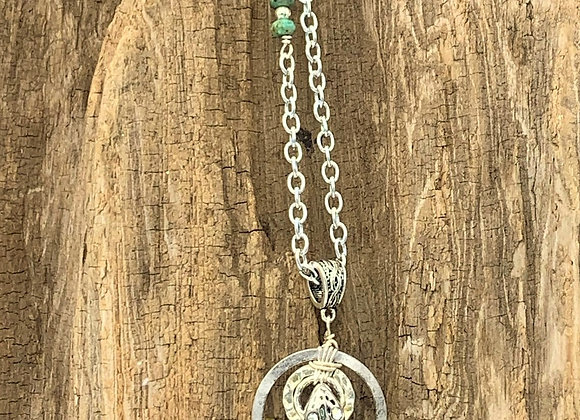 Green Sea Turtle Pendant Necklace