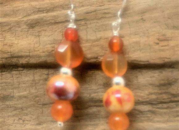 Carnelian Agate Drop Earrings