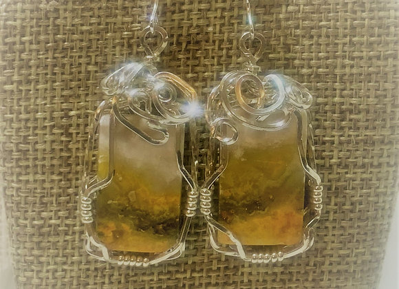 Bumble Bee Jasper Stone Earrings