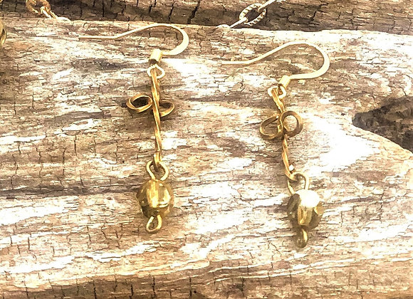 Brass and Gold Earrings