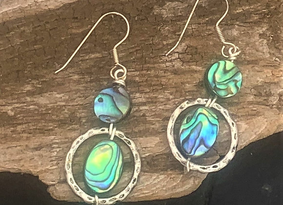Abalone Circle Earrings