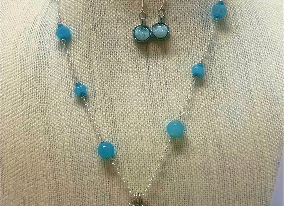 Turquoise Drusy Necklace