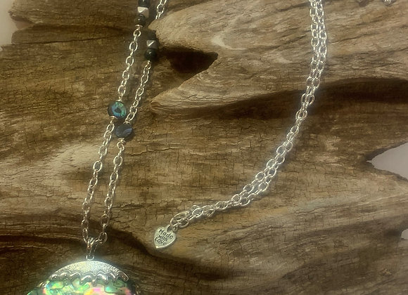 Abalone Oval Pendant Necklace