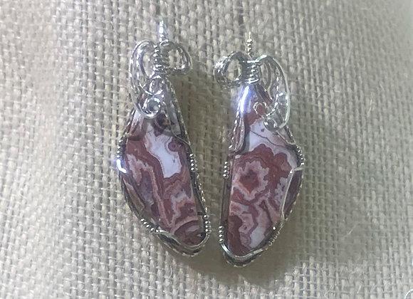 Lace Agate Earrings