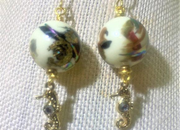 Goldtone Seahorse Earrings