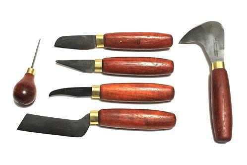 Padauk Collection 5 Knife + Awl Set
