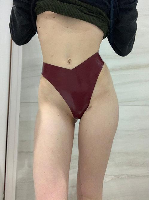 Back to Basics High Leg Thong (Plum)