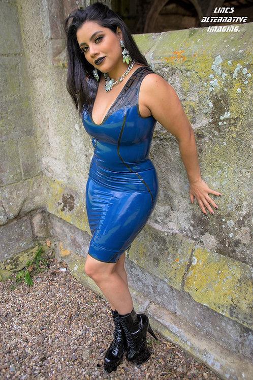 Rewired Low Back Dress (Blue)