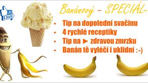 Banán jako zdravý pomocník.