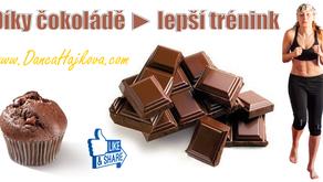 Díky čokoládě lepší trénink + super recept.