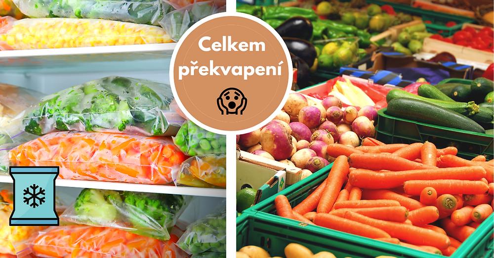 Mražená nebo čerstvá zelenina, která je lepší a zdravější