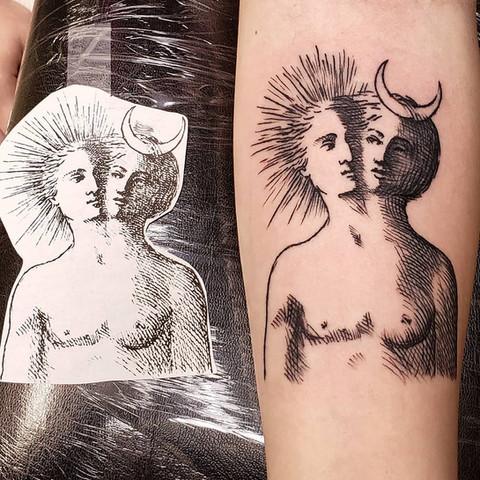 Celestial tattoo